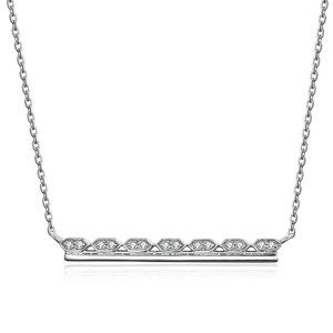 Solid Diamond Fancy Bar Choker Necklace White Gold